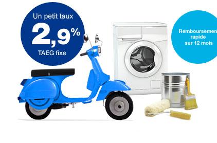 Un petit taux 2,9 % TAEG fixe + Remboursement rapide sur 12 mois