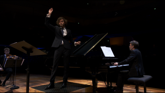 Alexandre Tharaud / 100% concertos - Ensemble Le Balcon - Maxime Pascal : Bach, Mozart, Strasnoy